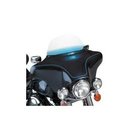 Memphis Shades 9 Inch Windshield Blue For Harley Davidson FLHT FLHTC 86-95