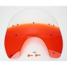 Memphis Shades 17 Windshield Orange For Harley Davidson FXWG FXST FXDWG