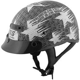 Black, Silver Speed & Strength Mens Ss300 Stars & Stripes Half Helmet 2014 Black Silver