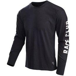 Troy Lee Designs Mens Race Club Cotton Blend Long Sleeve Graphic T-Shirt Black