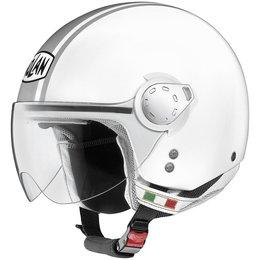 Metal White, Silver Nolan Mens N20 City Open Face Helmet 2014 Metal White Silver