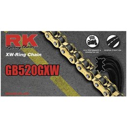 RK Chain GB 520 GXW XW-Ring 130 Links Gold