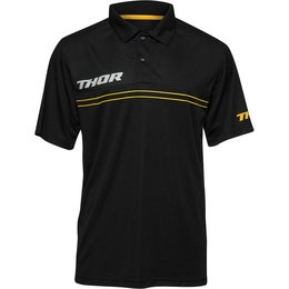 Thor Mens Mech Pit Polo Shirt Black