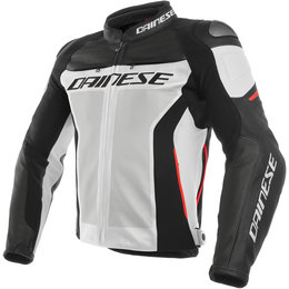 Dainese Mens Racing 3 Armored Perforated Leather Jacket White