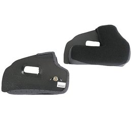 Black Afx Replacement Cheek Pad Set For Fx-5 Open Helmet 2007 And Up