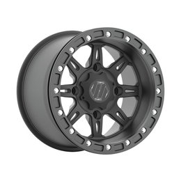 HiPer Wheel Cheyenne Rear 15X10 5+5 4/156 Bolt Black 1510-PCEBK-55-SBL-BK Black