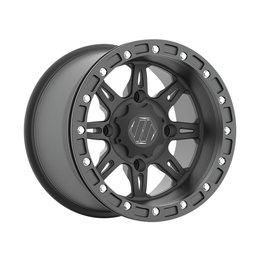 HiPer Wheel Cheyenne Rear 15X10 5+5 4/156 Bolt Black 1510-PCEBK-55-SBL-BK Black
