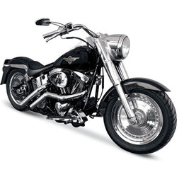 Chrome La Choppers Custom Exhaust Straight For Harley Flst Fxst 86-11