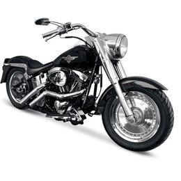 Chrome La Choppers Custom Exhaust Straight For Harley Flst Fxst 86-11