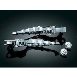Kuryakyn Zombie Levers Brake/Clutch For Harley Davidson FLHT FLTR FLHX FLHR Silver
