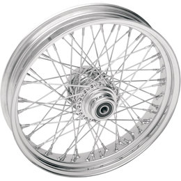 Drag Specialties 16x3.5 60-Spoke Laced Rear Wheel For Harley Chrome 0204-0362 Metallic