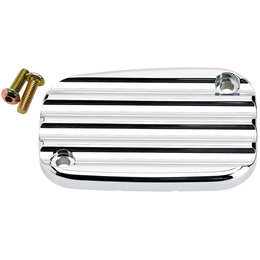 Joker Machine Finned Front Master Cylinder Cover Harley FL VRSC Chrome 08-002C Unpainted
