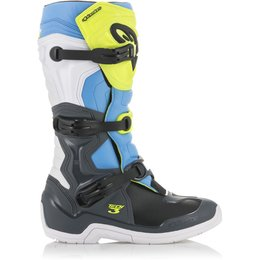 Alpinestars Mens Tech 3 MX Motocross Off-Road CE Certified Riding Boots Grey