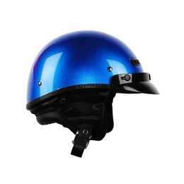 Ultra Blue Metallic Vega Mens Xta Touring Half Helmet 2014