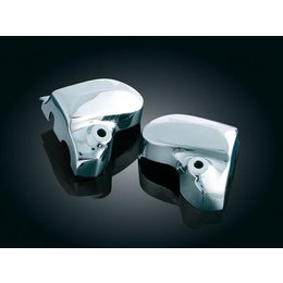 Kuryakyn Brake/Clutch Master Cylinder Covers Chrome For Yamaha Silver