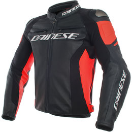 Dainese Mens Racing 3 Armored Perforated Leather Jacket Black