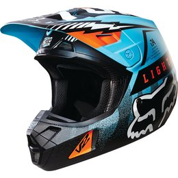 Fox Racing V2 Vicious DOT Helmet Blue