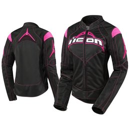 Black, Pink Icon Womens Contra Textile Jacket Black Pink