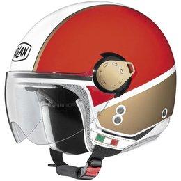 White Nolan Mens N20 City Rider Open Face Helmet 2014
