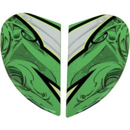 Green Icon Replacement Side Plate Kit For Airmada Sportbike Sb1 Full Face Helmet