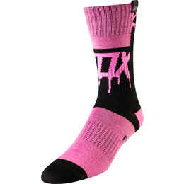 Fox Racing Youth Girls Mata Drip MX Socks Pair Black