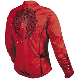 Red, Black Speed & Strength Womens To The Nines Textile Jacket 2014 Red Black