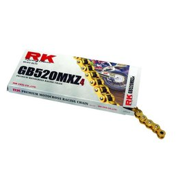 RK Chain GB 520 MXZ4 Motocross Race 120 Links Gold