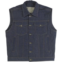 Indigo Biltwell Mens Prime Cut Denim Vest With Collar 2014