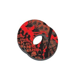Factory Effex Grip Donuts Moto Pair Metal Mulisha Red/Black Universal
