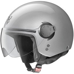 Platinum Silver Nolan Mens N20 Outlaw Open Face Helmet 2014
