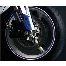FLU Designs Wheel Trim Decal Kit Blue Universal