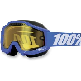 Blue 100% Accuri Snow Goggles With Yellow Lens 2013