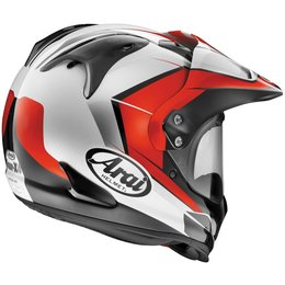 Red Arai Xd4 Xd-4 Flare Dual Sport Helmet
