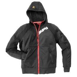 Spidi Sport Mens Hoodie Armor Armored Hooded Jacket Black