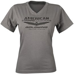 Charcoal Honda Womens Goldwing Touring Collection V-neck T-shirt 2013