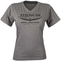 Charcoal Honda Womens Goldwing Touring Collection V-neck T-shirt 2013