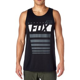Fox Racing Mens Red White And True Tank Top Black