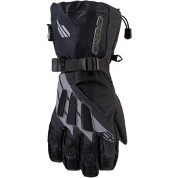 Arctiva Mens Meridian Insulated Textile Snowmobile Gloves Black