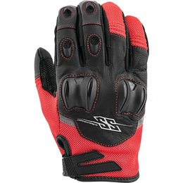 Speed & Strength Mens Power And The Glory Leather Riding Gloves Red