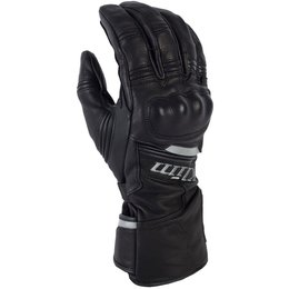 Quest Mens Gore-Tex Leather Breathable Long Gloves Black