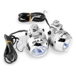 White Light/silver Housing Piaa 1100x Two Lamp Sport Touring Kit For Honda Goldwing 1800