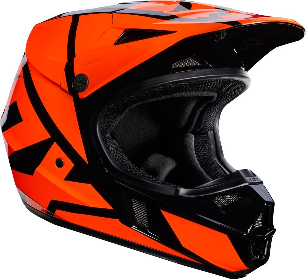 fox racing youth v1 race mx motocross helmet 995527. Black Bedroom Furniture Sets. Home Design Ideas