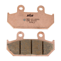 SBS Scooter Maxi MS Sintered Rear Brake Pads Single Set Only Suzuki 182MS Unpainted