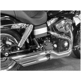 Chrome Cycle Shack 3 In Mufflers Slash Down For Harley Fxdf 08-10