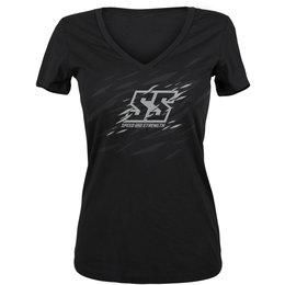 Speed & Strength Womens Cat Outa Hell T-Shirt Black