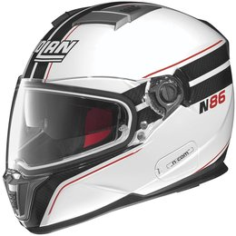 Metal White, Black Nolan Mens N86 N-com Rapid Full Face Helmet 2014 Metal White Black