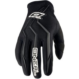 Oneal Mens Element Motocross MX Textile Gloves Black Black