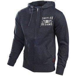 Troy Lee Designs Mens Winning Cotton Blend Zip Up Hoodie Grey