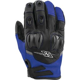 Speed & Strength Mens Power And The Glory Leather Riding Gloves Blue