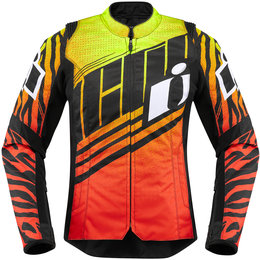 Icon Womens Overlord SB2 Wild Child Textile Jacket Orange